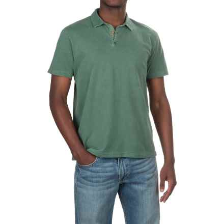 Lucky Brand Sueded Polo Shirt - Short Sleeve (For Men) in Laurel Wreath - Closeouts
