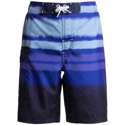 Lucky Brand Surf Boardshorts (For Big Boys) in Blue - Closeouts
