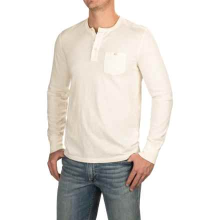 Lucky Brand Surfside Henley Shirt - Long Sleeve (For Men) in Marshmallow - Closeouts