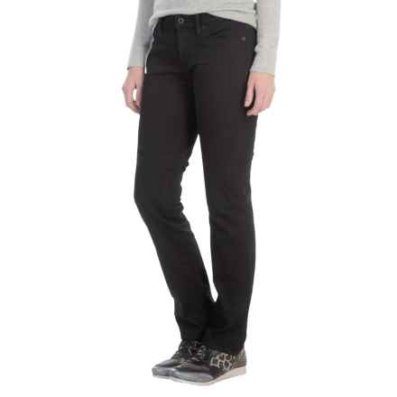 Lucky Brand Sweet Jeans - Mid Rise, Straight Leg (For Women) in Black Amber - Closeouts
