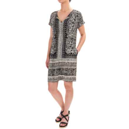 Lucky Brand T-Shirt Dress - Short Sleeve (For Women) in Black - Closeouts