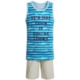 Lucky Brand Tank Top and Cargo Shorts (For Boys)