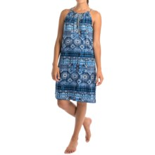 Lucky Brand Tassel Chemise - Sleeveless (For Women) in Dark Blue Print - Overstock
