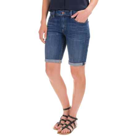 Lucky Brand The Bermuda Jean Shorts - Mid Rise (For Women) in Phillistine - Closeouts