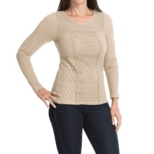 Lucky Brand Thermal Lace Shirt - Long Sleeve (For Women) in Nigori - Closeouts