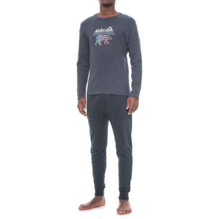 Lucky Brand Thermal Lounge Set - Long Sleeve (For Men) in Mood Indigo/Dark Saphire - Closeouts
