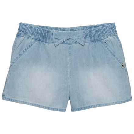 Lucky Brand Tia Drawstring Shorts (For Big Girls) in Bella Wash - Closeouts