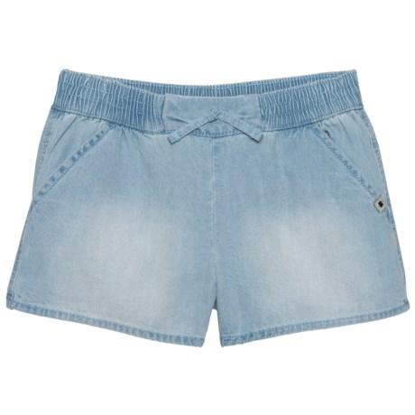 Lucky Brand Tia Drawstring Shorts (For Big Girls) in Bella Wash