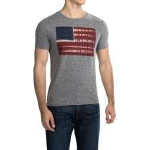 Lucky Brand Tie-Dye Flag Graphic T-Shirt - Short Sleeve (For Men) in Grey - Closeouts