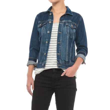 Lucky Brand Tomboy Trucker Jacket - Cotton Denim (For Women) in Presidio - Closeouts