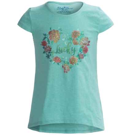 Lucky Brand True Love T-Shirt - Short Sleeve (For Big Girls) in Ceramic - Closeouts