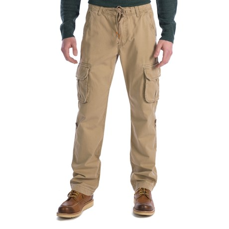 Lucky Brand Twill Cargo Pants (For Men) in Khaki
