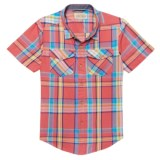 Lucky Brand Twill Weave Plaid Shirt - Short Sleeve (For Big Boys)