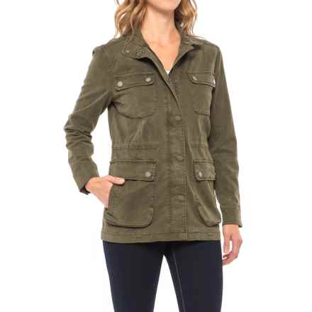 Lucky Brand Utility Jacket (For Women) in Dark Sage - Closeouts
