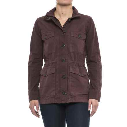 Lucky Brand Utility Jacket (For Women) in Fig - Closeouts