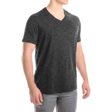 Lucky Brand V-Neck T-Shirt - Short Sleeve (For Men) in Onyx - Closeouts