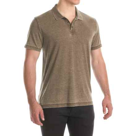 Lucky Brand Venice Burnout Polo Shirt - Short Sleeve (For Men) in Dark Olive - Closeouts