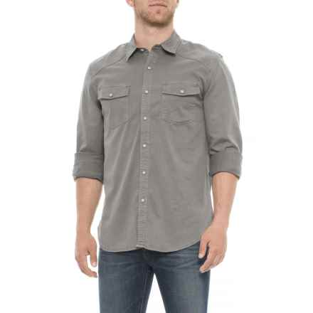 Lucky Brand Washed Grey Workwear Western Shirt - Long Sleeve (For Men) in Washed Grey - Closeouts