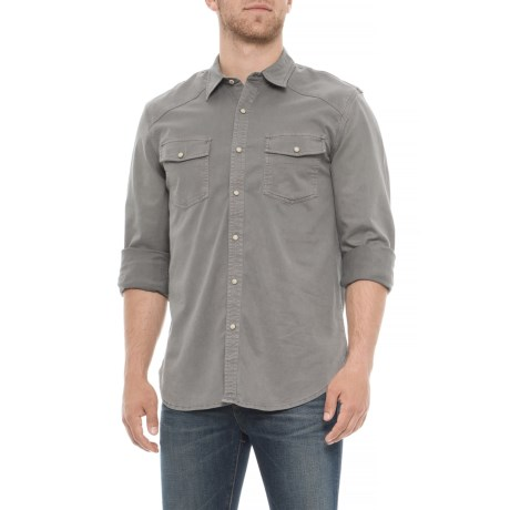 21236a7a583f ... Lucky Brand Washed Grey Workwear Western Shirt For Men