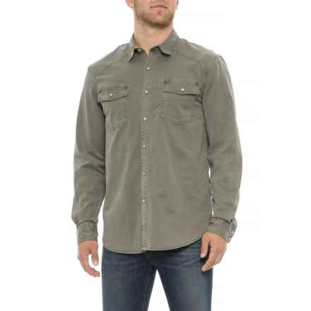Lucky Brand Washed Olive Workwear Western Shirt - Long Sleeve (For Men) in Washed Olive - Closeouts