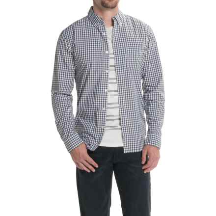 Lucky Brand Washed White Label Shirt - Long Sleeve (For Men) in Black/White - Closeouts