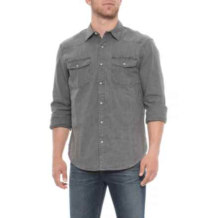 Lucky Brand Western Chambray Shirt - Long Sleeve (For Men) in Washed Out  Grey e35cdd3f8d0