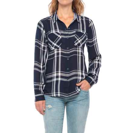 Lucky Brand Woven Plaid Shirt - Long Sleeve (For Women) in Blue Multi - Closeouts