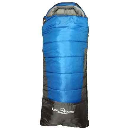 "Lucky Bums 25°F Explorer Sleeping Bag - 74"" in Blue - Closeouts"