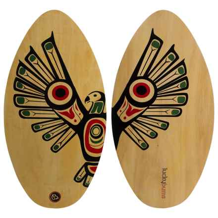 """Lucky Bums 39"""" Wood Skimboard in Wood/Eagle Print - Overstock"""