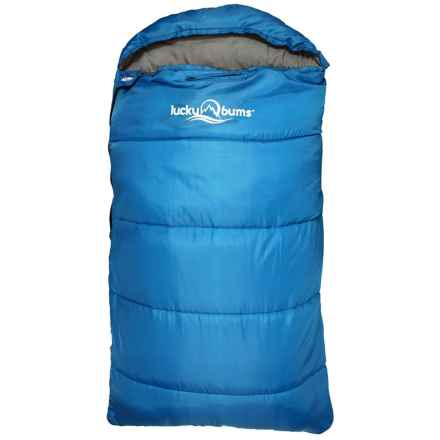 "Lucky Bums 40°F Muir Sleeping Bag - 50"" (For Little Kids) in Blue - Closeouts"