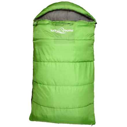 "Lucky Bums 40°F Muir Sleeping Bag - 65"" (For Little Kids) in Green - Closeouts"