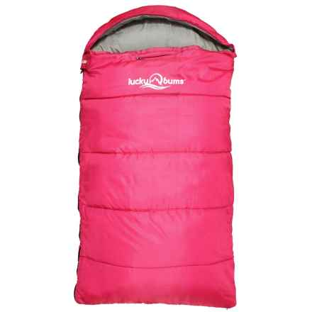 "Lucky Bums 40°F Muir Sleeping Bag - 65"" (For Little Kids) in Pink - Closeouts"