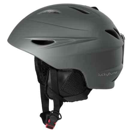Lucky Bums Alpine Series Ski Helmet (For Kids) in Charcoal - Overstock