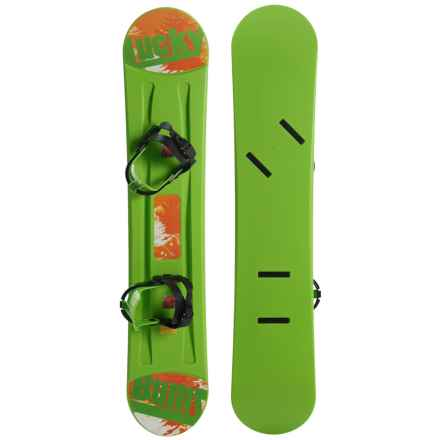 Lucky Bums Beginner Snowboard - 95cm (For Kids) in Green - Closeouts