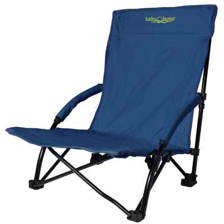 Lucky Bums Folding Sling Beach Chair - Large in Navy - Closeouts
