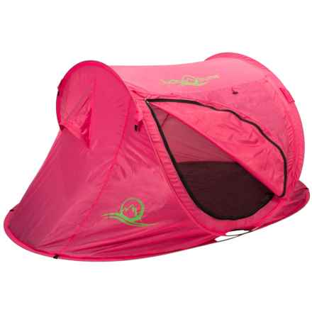Lucky Bums Kids Quick-Camp Tent in Pink - Closeouts
