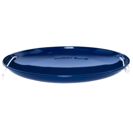 Lucky Bums Metal Saucer Sled in Blue