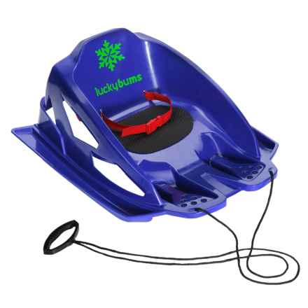 Lucky Bums Mini Pull Sled in Blue - Closeouts