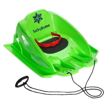 Lucky Bums Mini Pull Sled in Green - Closeouts
