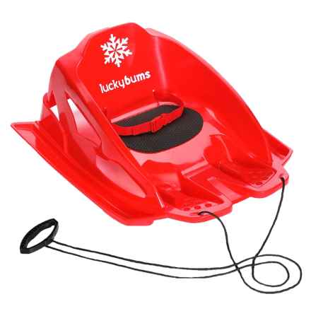Lucky Bums Mini Pull Sled in Red - Closeouts