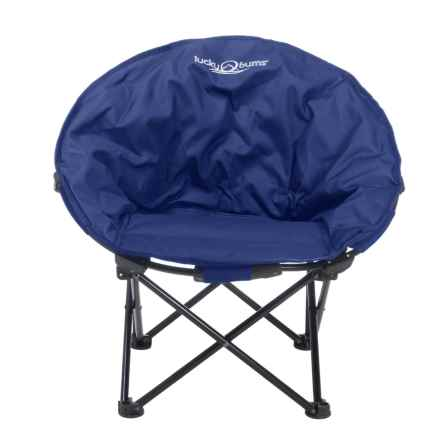 Lucky Bums Moon Camp Chair - Medium in Blue - Closeouts