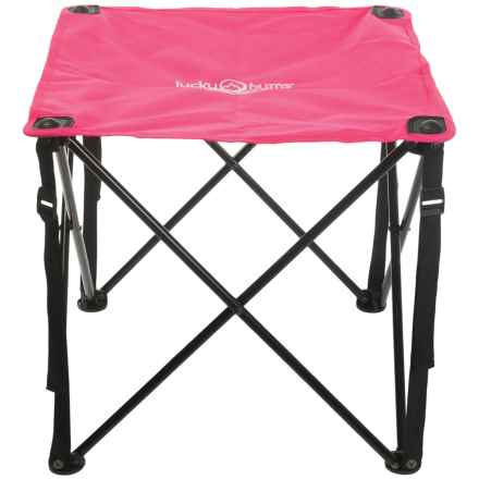 Lucky Bums Quick Camp Table in Pink - Closeouts