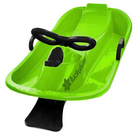 Lucky Bums Snow Kids Racer Sled in Green/Black - Closeouts