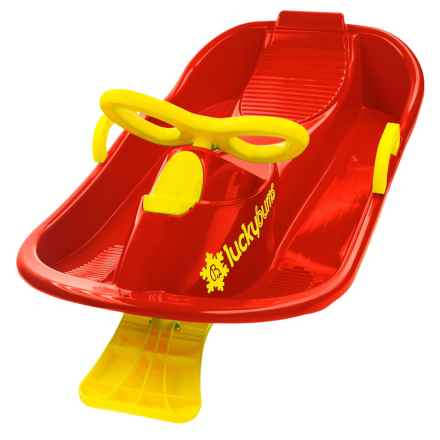 Lucky Bums Snow Kids Racer Sled in Red/Yellow - Closeouts