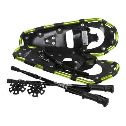 "Lucky Bums Snowshoes Kit with Poles - 22"" (For Kids) in Green - Overstock"