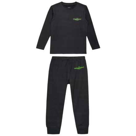 Lucky Bums Technical Base Layer Set - Long Sleeve (For Kids) in Black - Closeouts
