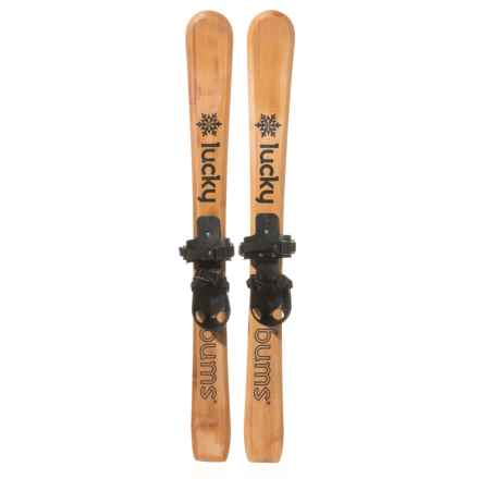 Lucky Bums Wooden Heirloom Skis with Bindings - 90cm (For Kids) in See Photo - Closeouts