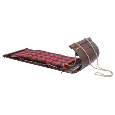 "Lucky Bums Wooden Heirloom Toboggan - 48"" in See Photo - Closeouts"