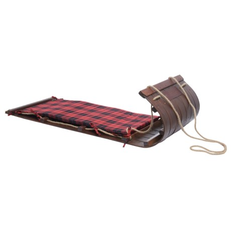 "Lucky Bums Wooden Heirloom Toboggan - 48"" in See Photo"