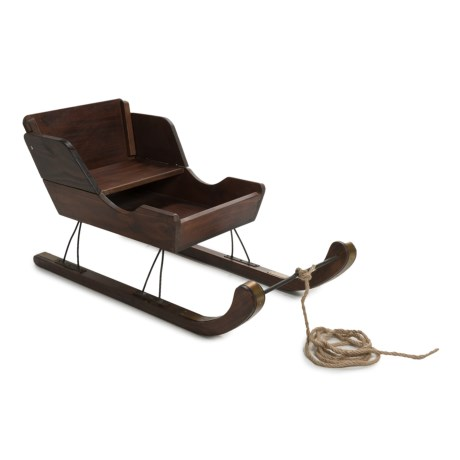 Lucky Bums Wooden Vintage Pull Sled in See Photo